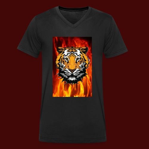 Fire Tiger - Men's Organic V-Neck T-Shirt by Stanley & Stella