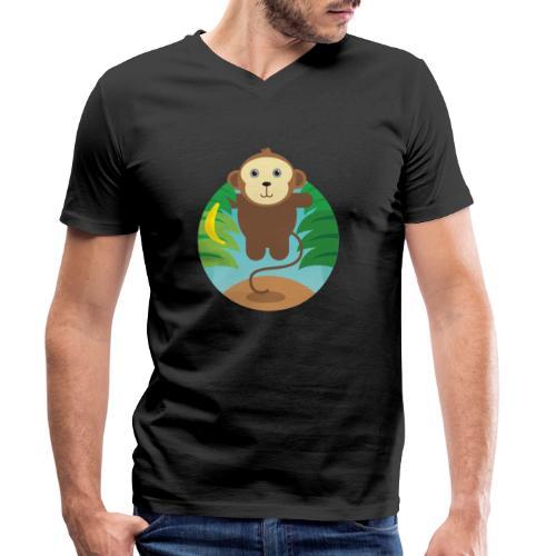 Banana Monkey - Männer Bio-T-Shirt mit V-Ausschnitt von Stanley & Stella