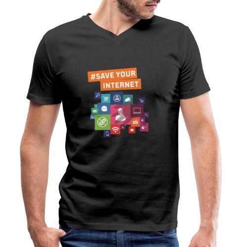 #Save-Your-Internet-Shirt - Männer Bio-T-Shirt mit V-Ausschnitt von Stanley & Stella