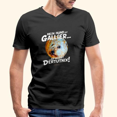 Hunde T-Shirt witziger Spruch für Hundehalter - Männer Bio-T-Shirt mit V-Ausschnitt von Stanley & Stella