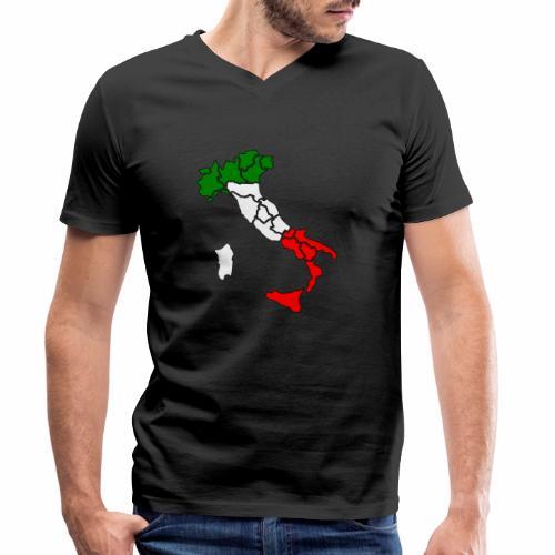 Karte von Italien - Männer Bio-T-Shirt mit V-Ausschnitt von Stanley & Stella