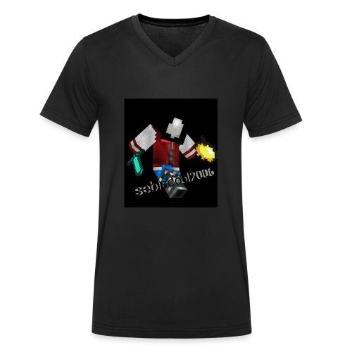 Sebastian yt - Økologisk Stanley & Stella T-shirt med V-udskæring til herrer