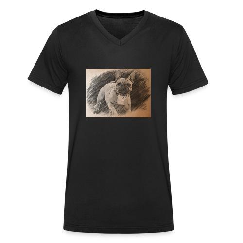 Französische Bulldogge Babsy - Männer Bio-T-Shirt mit V-Ausschnitt von Stanley & Stella