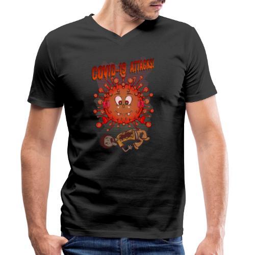 CoVid 19 Attacks! - Männer Bio-T-Shirt mit V-Ausschnitt von Stanley & Stella