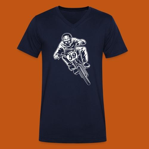 BMX Fahrrad / Bike 02_weiß - Männer Bio-T-Shirt mit V-Ausschnitt von Stanley & Stella