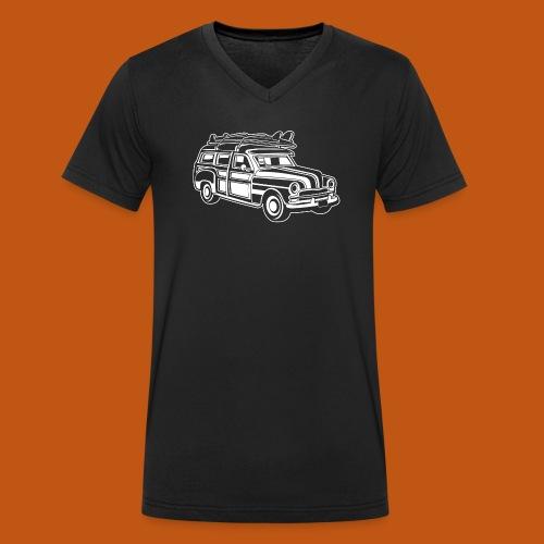 Chevy Cadilac Woodie / Oldtimer Kombi 01_weiß - Männer Bio-T-Shirt mit V-Ausschnitt von Stanley & Stella