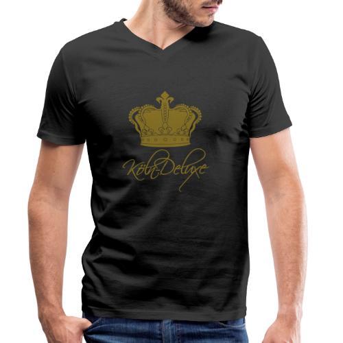 Köln Deluxe Krone gross - Männer Bio-T-Shirt mit V-Ausschnitt von Stanley & Stella