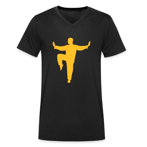 Taichi kick - Männer Bio-T-Shirt mit V-Ausschnitt von Stanley & Stella
