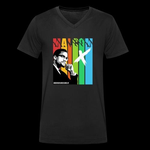 MALCOM X colourful - Männer Bio-T-Shirt mit V-Ausschnitt von Stanley & Stella