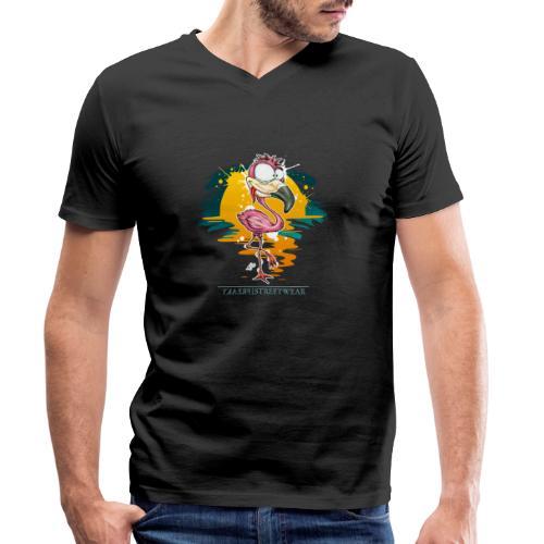 Flamingo Weirdo - Männer Bio-T-Shirt mit V-Ausschnitt von Stanley & Stella