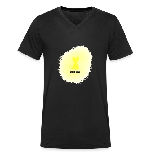 Sand cat - Men's Organic V-Neck T-Shirt by Stanley & Stella
