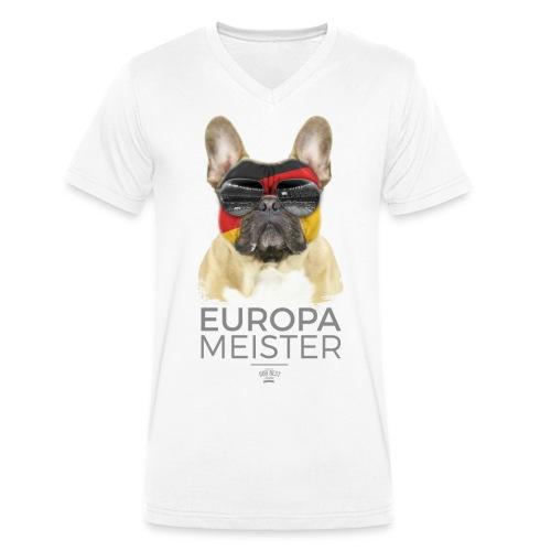 Europameister Deutschland - Männer Bio-T-Shirt mit V-Ausschnitt von Stanley & Stella