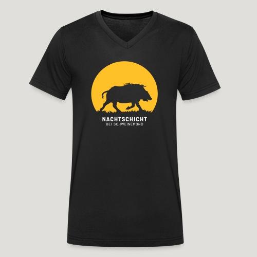 Nachtschicht bei Schweinemond! Jäger Shirt Jaeger - Männer Bio-T-Shirt mit V-Ausschnitt von Stanley & Stella