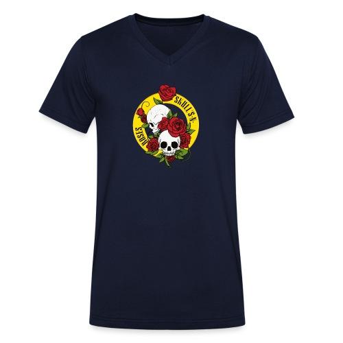 SKULL'S N ROSES - Camiseta ecológica hombre con cuello de pico de Stanley & Stella