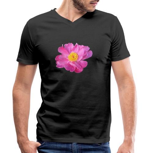 TIAN GREEN Garten - PfingstRose - Männer Bio-T-Shirt mit V-Ausschnitt von Stanley & Stella