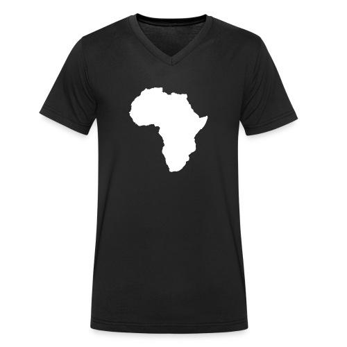 Africa Weiß - Männer Bio-T-Shirt mit V-Ausschnitt von Stanley & Stella