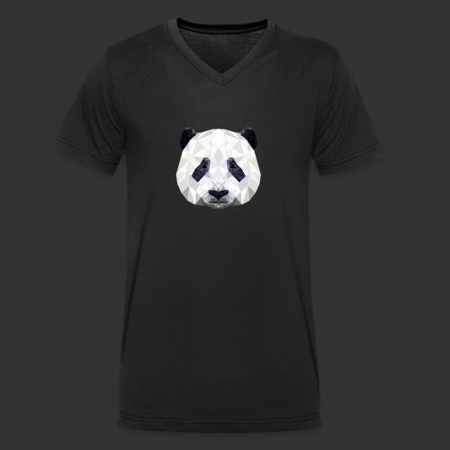 Panda Low Poly - T-shirt bio col V Stanley & Stella Homme