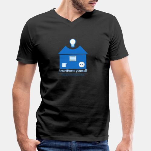 SmartHome yourself Logo Groß - Männer Bio-T-Shirt mit V-Ausschnitt von Stanley & Stella