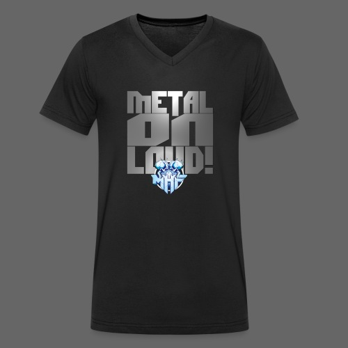 metalonloud large 4k png - Men's Organic V-Neck T-Shirt by Stanley & Stella