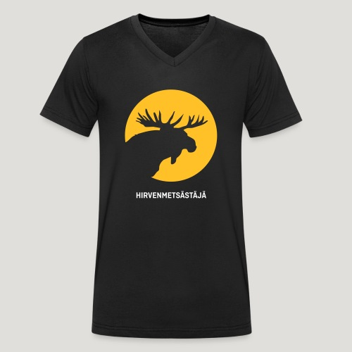 Hirvenmetsästäjä - moose hunter (finnish version) - Männer Bio-T-Shirt mit V-Ausschnitt von Stanley & Stella