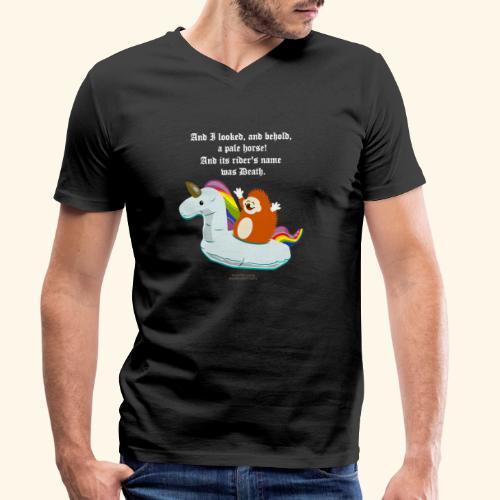Geek T Shirt Igel, Einhorn & Johannes-Offenbarung - Männer Bio-T-Shirt mit V-Ausschnitt von Stanley & Stella