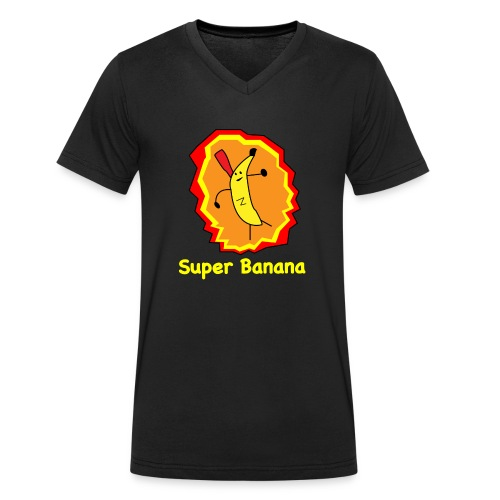 Super Banana - Men's Organic V-Neck T-Shirt by Stanley & Stella