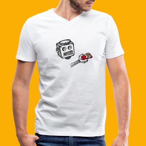 Dat Robot: Destroy Series Smoking Dark - Mannen bio T-shirt met V-hals van Stanley & Stella