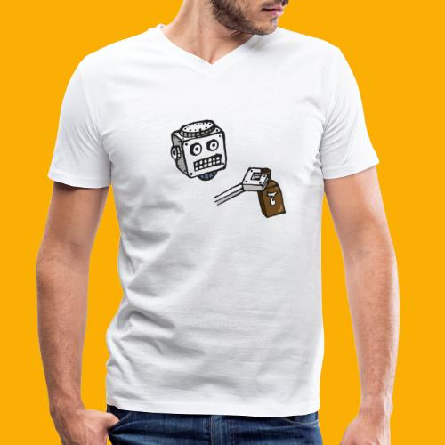 Dat Robot: Destroy Series Booze Light - Mannen bio T-shirt met V-hals van Stanley & Stella