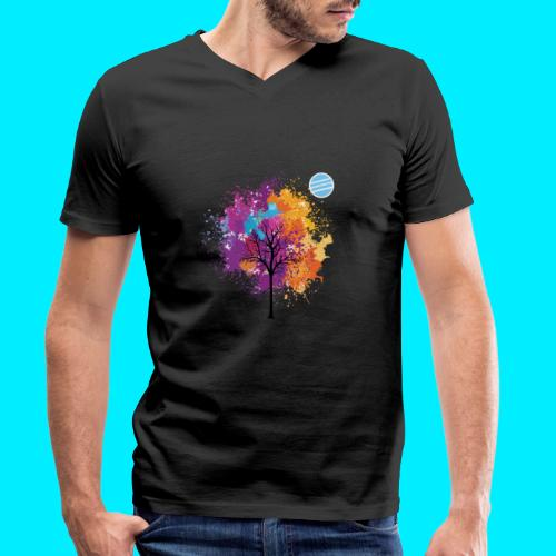LOGO AUTUNNO BANCOMATTI - T-shirt ecologica da uomo con scollo a V di Stanley & Stella