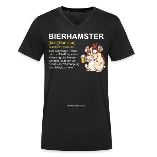 Bierhamster Bier Hamsterkauf Duden Definition Fun - Männer Bio-T-Shirt mit V-Ausschnitt von Stanley & Stella