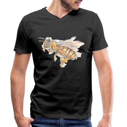 MG002 Bee | Honey | Save the Bees | Books bee - Men's Organic V-Neck T-Shirt by Stanley & Stella