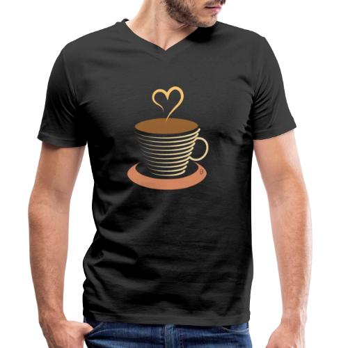 0251 Coffee | Coffee lovers | coffee pot - Men's Organic V-Neck T-Shirt by Stanley & Stella