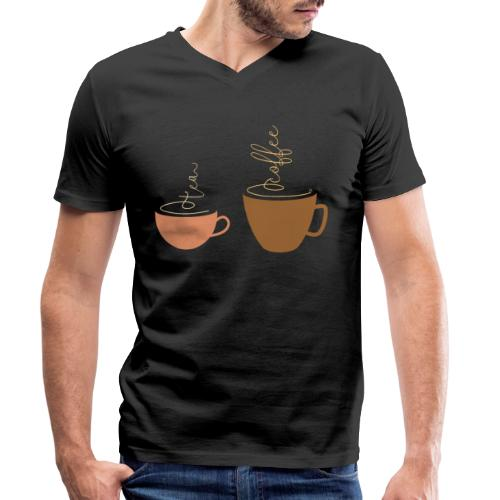 0254 Tea or coffee? That is the question! - Men's Organic V-Neck T-Shirt by Stanley & Stella