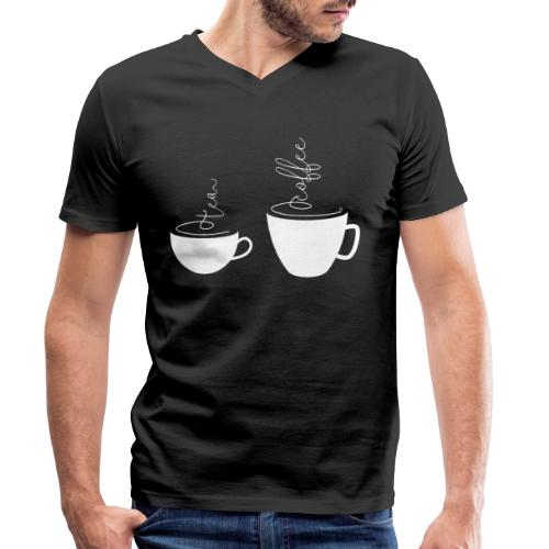 0255 coffee or tea | Best friends - Men's Organic V-Neck T-Shirt by Stanley & Stella