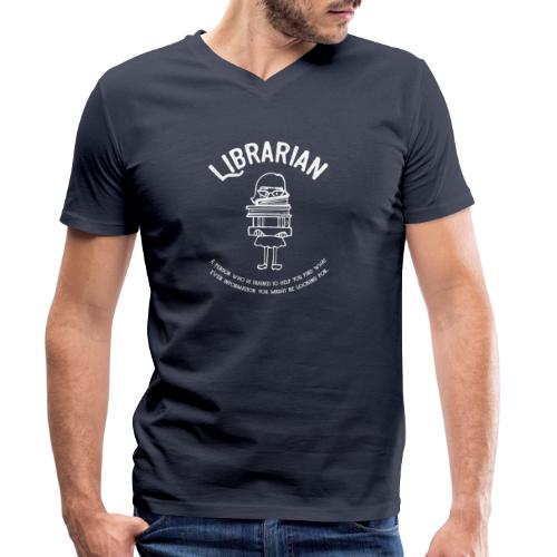 0331 Librarian Funny saying Cool text - Men's Organic V-Neck T-Shirt by Stanley & Stella