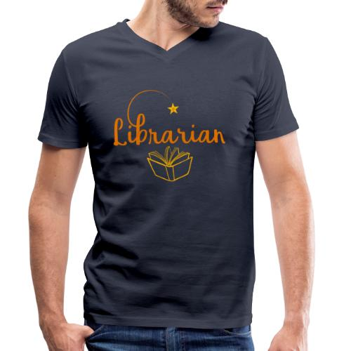 0327 Librarian Librarian Library Book - Men's Organic V-Neck T-Shirt by Stanley & Stella