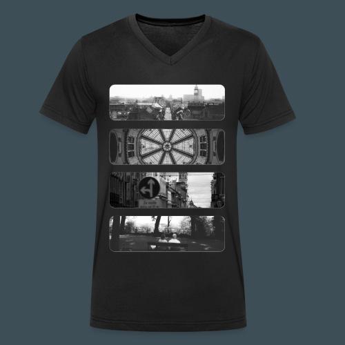 Zagreb Mono - Männer Bio-T-Shirt mit V-Ausschnitt von Stanley & Stella