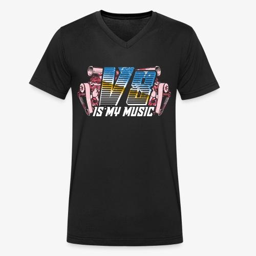 V8 Is my Music, TShirt, Auto Tuning, Musik, Retro - Männer Bio-T-Shirt mit V-Ausschnitt von Stanley & Stella