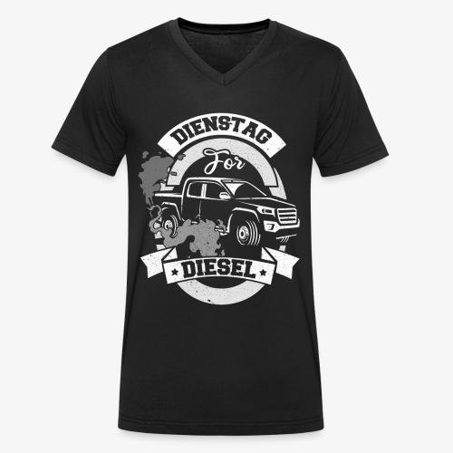 Dienstag for Diesel Fridays for Hubraum Klimakrise - Männer Bio-T-Shirt mit V-Ausschnitt von Stanley & Stella