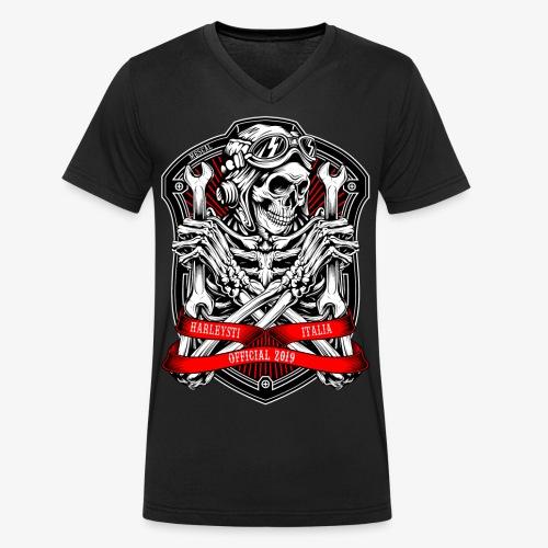Design Ufficiale 2019 Harleysti Italia by Mescal - T-shirt ecologica da uomo con scollo a V di Stanley & Stella