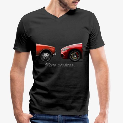Alfa Giulia Old and New - T-shirt ecologica da uomo con scollo a V di Stanley & Stella