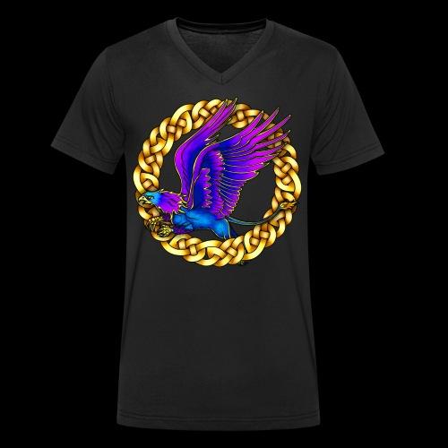 Royal Gryphon - Men's Organic V-Neck T-Shirt by Stanley & Stella