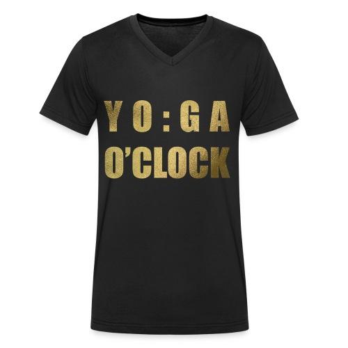 YOGA o'clock - Mannen bio T-shirt met V-hals van Stanley & Stella