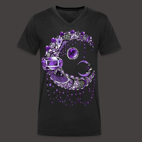 Lune dentelle Violette - T-shirt bio col V Stanley & Stella Homme