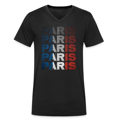 Paris, France - Men's Organic V-Neck T-Shirt by Stanley & Stella