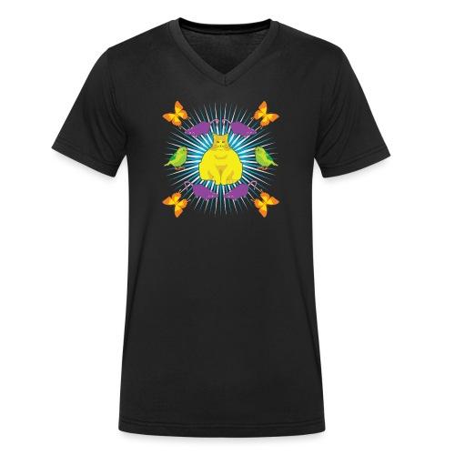 KATTGUDEN - Ekologisk T-shirt med V-ringning herr från Stanley & Stella