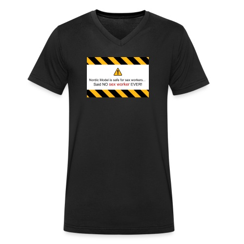 said no escort ever - Men's Organic V-Neck T-Shirt by Stanley & Stella