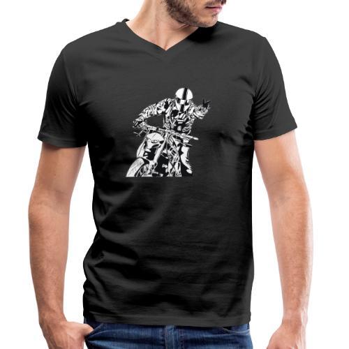 Streetfighter - Männer Bio-T-Shirt mit V-Ausschnitt von Stanley & Stella