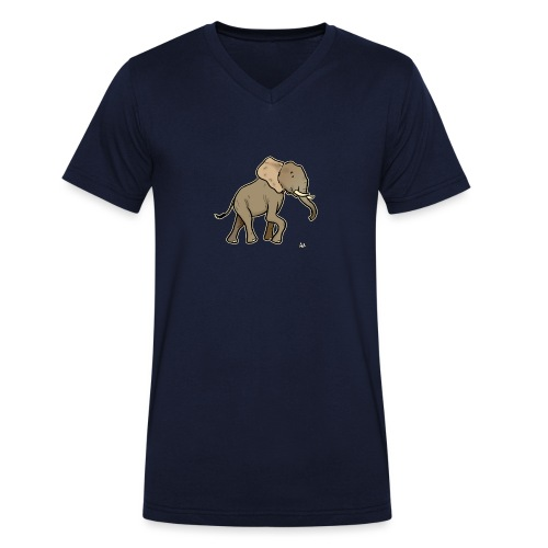 African Elephant (black edition) - Økologisk T-skjorte med V-hals for menn fra Stanley & Stella