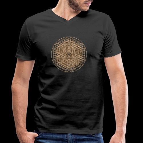 lebensblume-fc9 - Männer Bio-T-Shirt mit V-Ausschnitt von Stanley & Stella